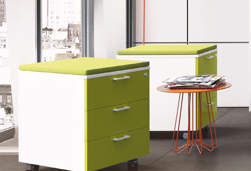 Cassettiere per ufficio in legno for Cassettiere design per ufficio