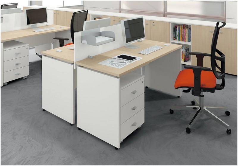 Scrivania Ufficio Operativa : Scrivania operativa in offerta struttura pannellata eur