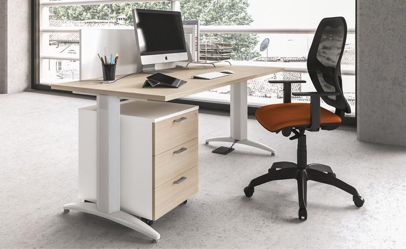 Scrivania Ufficio Operativa : Scrivania operativa in offerta struttura metallica a t